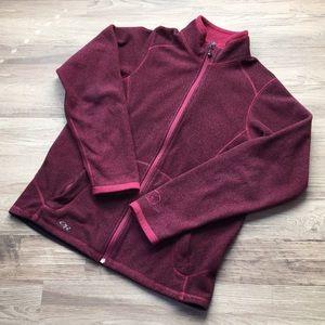 Outdoor Research fleece jacket, cranberry, sz L